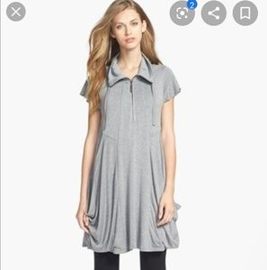 Kensie zip-front jersey dress
